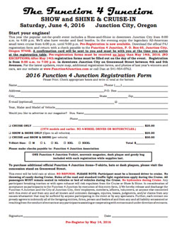2016 Function 4 Junction Registration Form